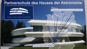 Partnerschild Haus der Astronomie